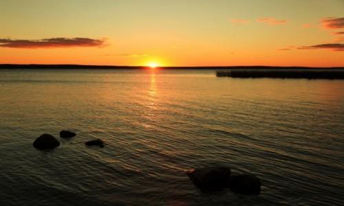 Zdjęcie BIAłORUś / Witebsk / Brasław  / Jezioro Drywiaty o zachodzie słońca