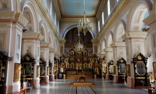 Zdjecie BIAłORUś / Obwód grodzieński / Grodno / Wnętrze Soboru Opieki Matki Bożej w Grodnie