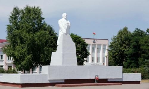 Zdjecie BIAłORUś / Obwód miński / Wilejka / Pomnik Lenina w Wilejce