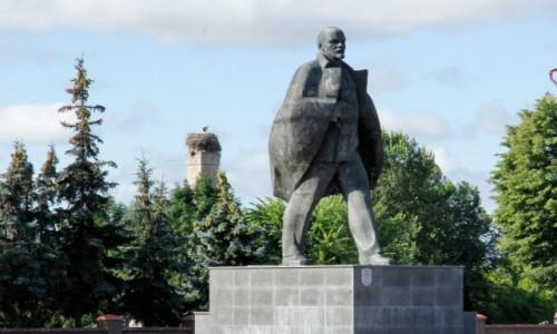 Zdjecie BIAłORUś / Obwód brzeski / Pińsk / Pomnik Lenina w Pińsku