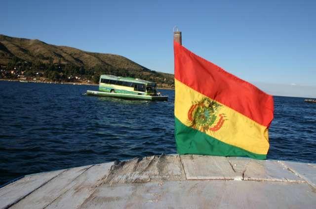 Zdjęcia: Jezioro Titicaca, Przeprawa a'la Świnoujście, BOLIWIA