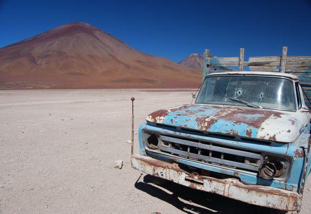 Zdj�cia: Granica Boliwia - Chile, Grat i wulkan, BOLIWIA