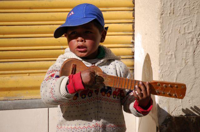 Zdjęcia: La Paz, Grajek, BOLIWIA