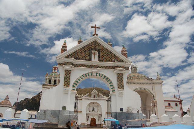 Zdjęcia: Copacabana , Boliwia tuż przy granicy z Peru, Katedra w Copacabanie, BOLIWIA