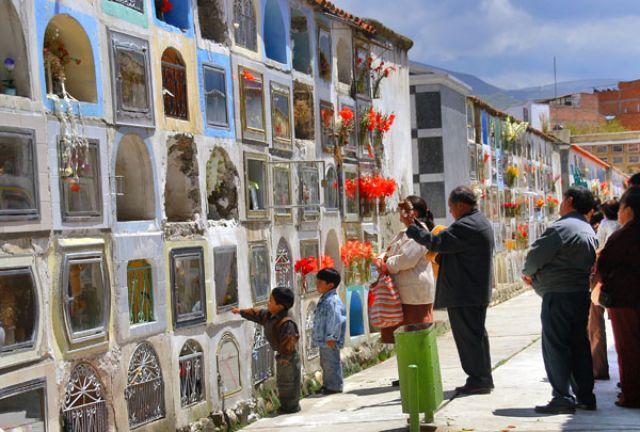 Zdj�cia: LA PAZ  cmentarz w stolicy, Fotka 05, BOLIWIA