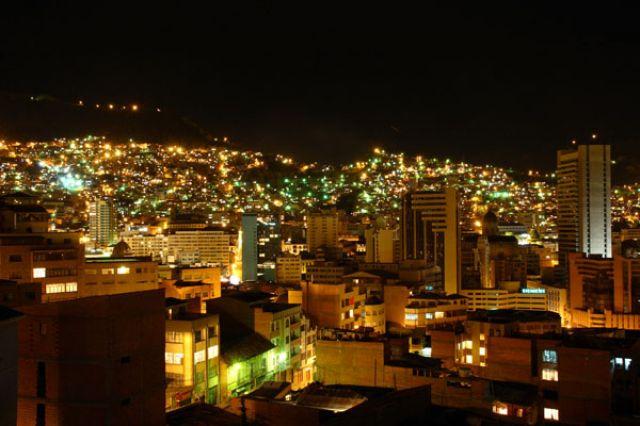 Zdjęcia: LA PAZ nocą, Fotka 08, BOLIWIA
