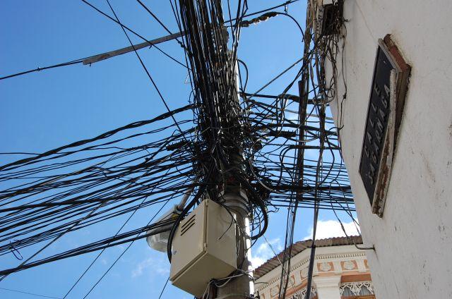 Zdjęcia: La Paz, La Paz, Koszmar elektryka, BOLIWIA