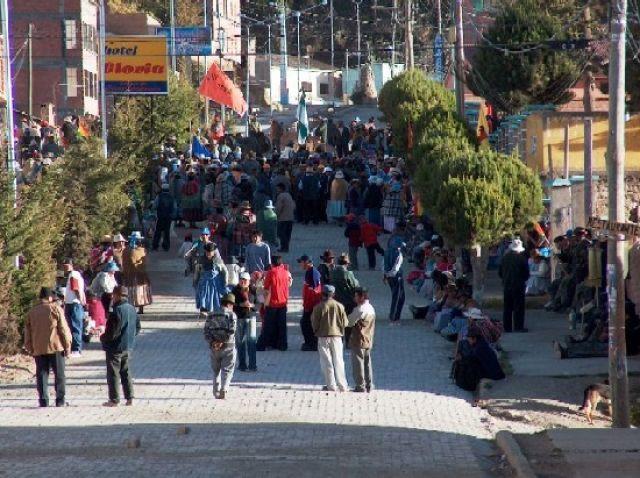 Zdj�cia: Jezioro Titicaca, Altiplano, Protest w Copacabanie, BOLIWIA