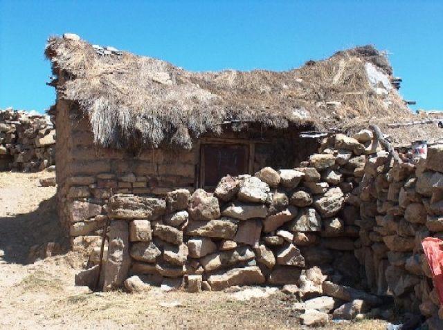 Zdjęcia: Jezioro Titicaca, Altiplano, Zabudowa na Isla del Sol, BOLIWIA