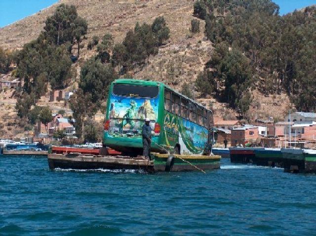 Zdjęcia: Jezioro Titicaca, Altiplano, Przeprawa przez zatokę Titicaci; droga Copacabana - La Paz, BOLIWIA