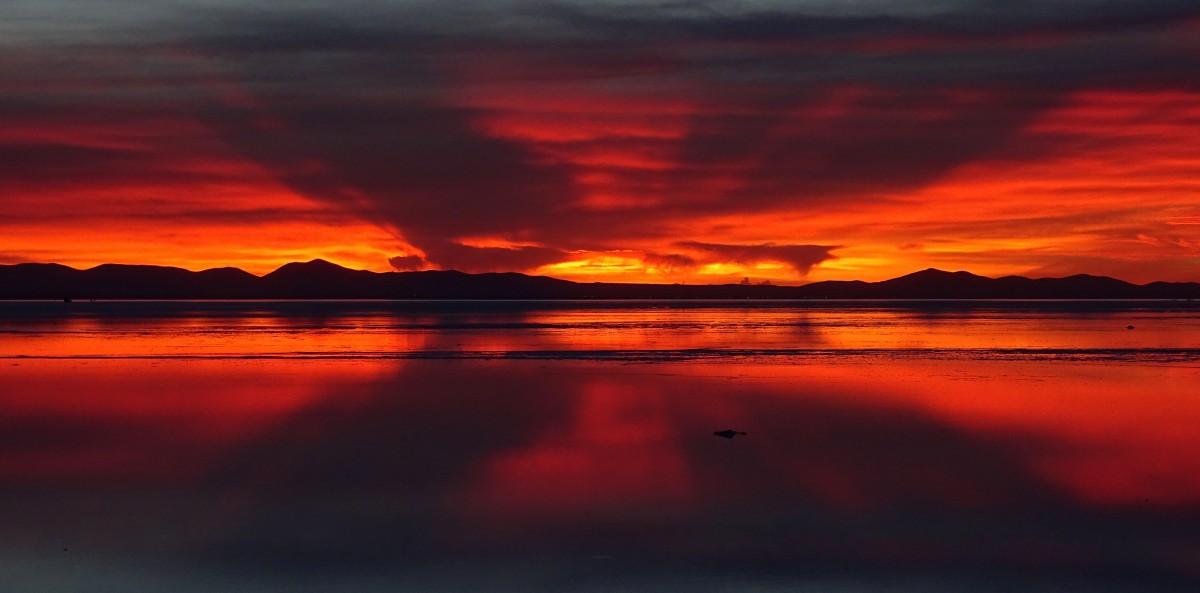 Zdjęcia: Salar de Uyuni, Altiplano, Wschód nad Salarem de Uyuni, BOLIWIA