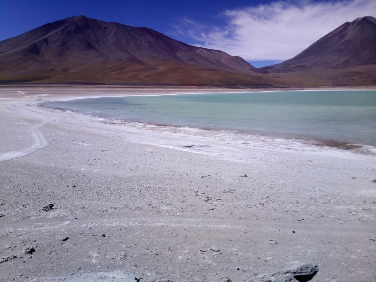 Zdjęcia: Laguna Verde 4300m.n.p.m., Reserva Nacional de Fauna Andina Eduardo Avaroa, CHILE I BOLIWIA - SAMOTNIE I INTENSYWNIE, BOLIWIA