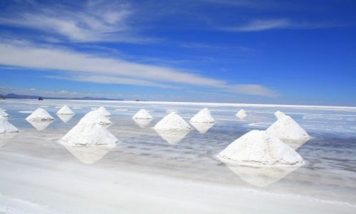 Zdjecie BOLIWIA / - / Salar de Uyuni / Piramidy solne