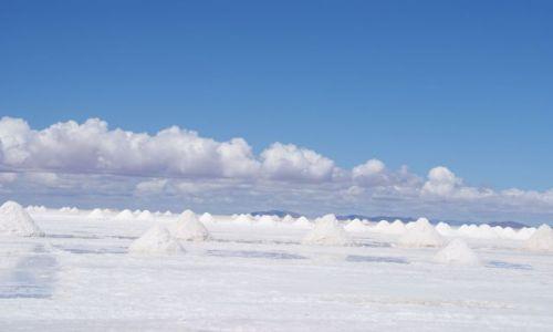 Zdjecie BOLIWIA / Salar de Uyuni / Pozyskiwanie soli / Salar de Uyuni - największa solniczka świata