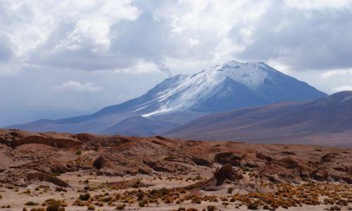 Zdjecie BOLIWIA / -Andach Środkowych, na południowym skraju płaskowyżu Altiplano / Ollagüe  / Wulkan Ollagüe