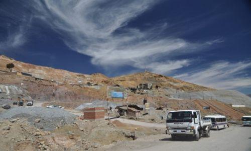Zdjęcie BOLIWIA / Potosi / Potosi / Kopalnia minerałów 4270 m.n.p.m.
