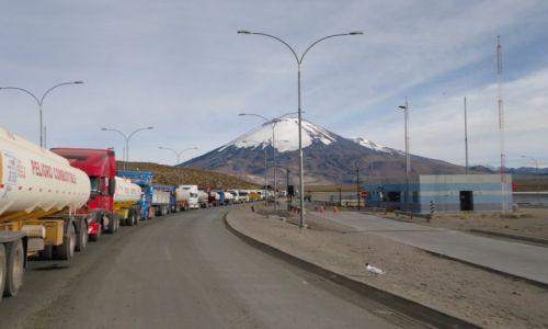 Zdjęcie BOLIWIA / Oruro / Paso Chungará-Tambo Quemado / Na granicy