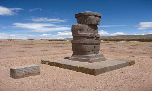 Zdjęcie BOLIWIA / La Paz / Tiwanaku (Tiahuanako) / Monument
