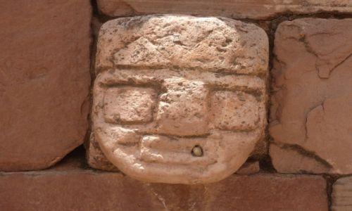 Zdjęcie BOLIWIA / La Paz / Tiwanaku (Tiahuanako) / Templete Semi-subterraneo