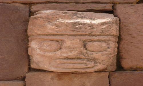 Zdjęcie BOLIWIA / La Paz / Tiwanaku (Tiahuanako) / Templete Semi-subterraneo (2)