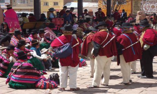 Zdjęcie BOLIWIA / La Paz / Tiwanaku (Tiahuanako) / Lokalna fiesta