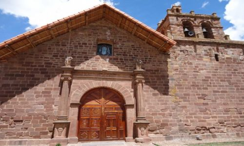 Zdjecie BOLIWIA / La Paz / Tiwanaku (Tiahuanako) / Kościół w Tiwanaku