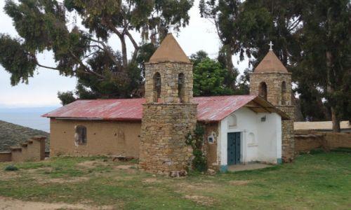 Zdjecie BOLIWIA / La Paz / Isla del Sol / Kościółek na wyspie