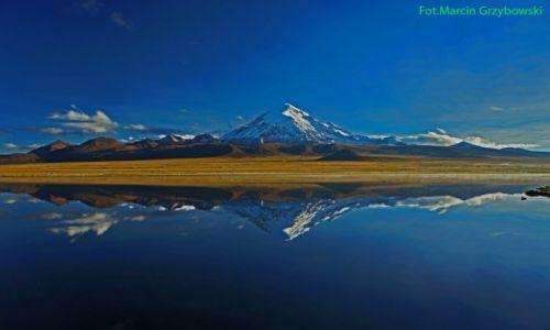 Zdjecie BOLIWIA / Boliwia / Boliwia / Wulkan Sajama