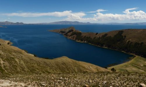 Zdjęcie BOLIWIA /  Granica Peru-Boliwia / Jezioro Titicaca / Zatoczka...