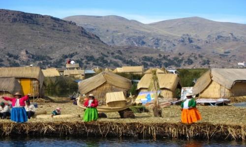 Zdjecie PERU / - / Jezioro Titicaca, wyspa Uros / Sz�a dzieweczka