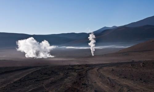 BOLIWIA / Pustynia Atacama / / / Gejzery Sol de Manana