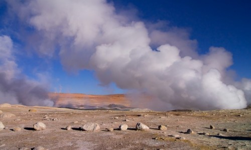 Zdjęcie BOLIWIA / Pustynia Atacama / / / Sol de Manana