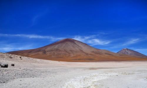 Zdjęcie BOLIWIA / Altiplano-Potosi / Laguna Blanca / Boliwijskie wulkany