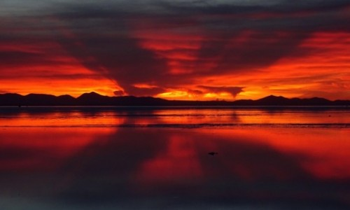 Zdjęcie BOLIWIA / Altiplano / Salar de Uyuni / Wschód nad Salarem de Uyuni