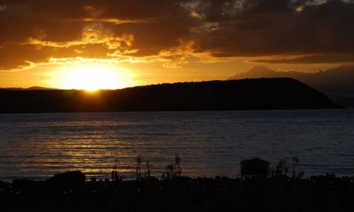 Zdjęcie BOLIWIA / brak / Boliwia, Isla del Sol / wschód słońca nad Titicaca
