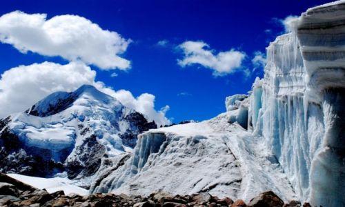 Zdjecie BOLIWIA / Cordillera Real / Lodowiec na Ancohumie / Lodowa kraina