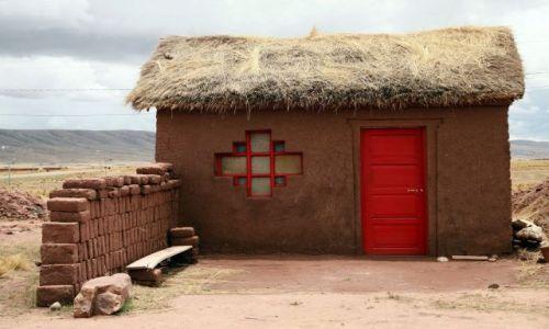 Zdjęcie BOLIWIA / Altiplano / Altiplano /  bardzo typowy domek na Altiplano