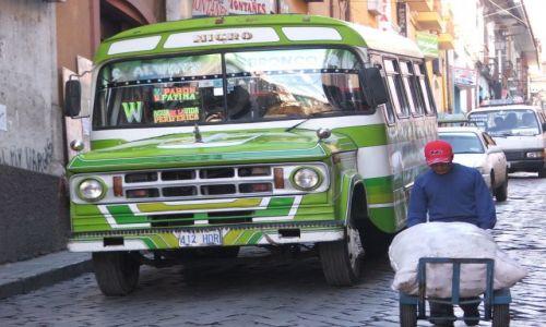 Zdjecie BOLIWIA / brak / La Paz / Autobus w La Paz