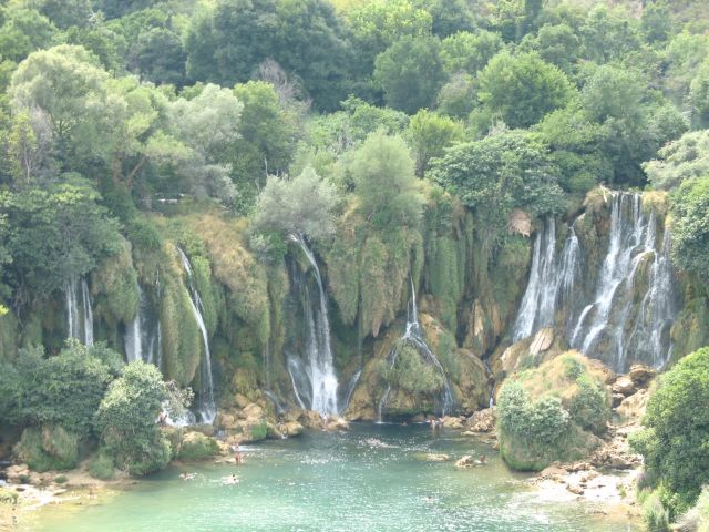 Zdj�cia: Kravice, Wodospady Kravice, BO�NIA