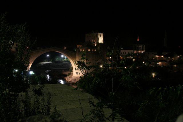 Zdjęcia: Mostar, Mostar noca, BOśNIA