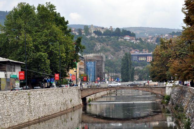 Zdjęcia: Sarajewo, Bośnia i Hercegowina, Rzeka Miljacka, BOśNIA i HERCEGOWINA
