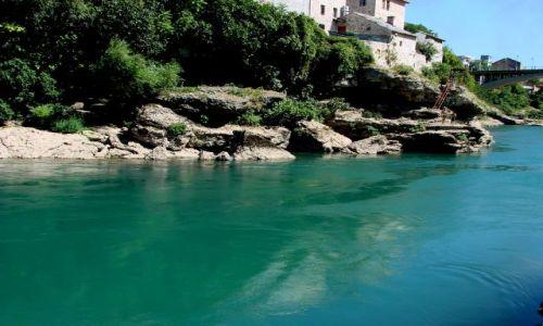Zdjecie BOśNIA i HERCEGOWINA / Mostar / Mostar / Neretwa pod Mostarem