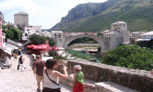 Zdjecie BOśNIA i HERCEGOWINA / Mostar / Bosnia-Mostar / Most w Mostarze