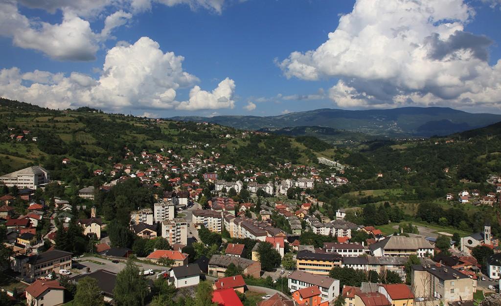 Zdjęcia: Zamek księcia Hrvoje Vukčića, Jajce, Panorama miasta, BOśNIA i HERCEGOWINA