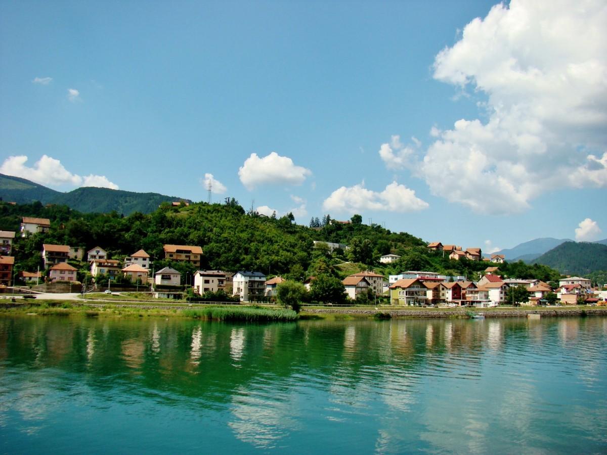 Zdjęcia: Wiszegrad, Republika Serbska, Wiszegrad-rzeka Drina, BOśNIA i HERCEGOWINA