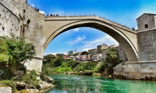 Zdjecie BOśNIA i HERCEGOWINA / - / Mostar / Kamienny Most w Mostarze