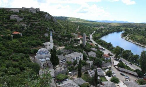 Zdjecie BOśNIA i HERCEGOWINA / Południowo-zachodnia Bośnia i Hercegowina / Počitelj / Stare miasto nad rzeką Neretwa