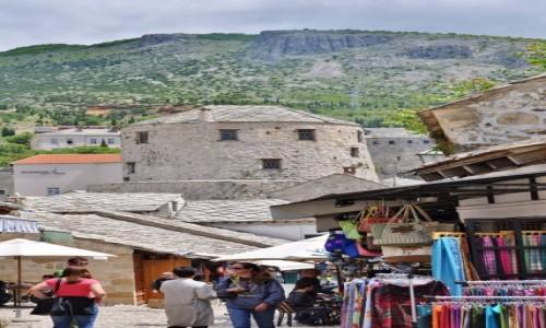 Zdjęcie BOśNIA i HERCEGOWINA / Hercegowina / Mostar / Mostar, widok na miasto