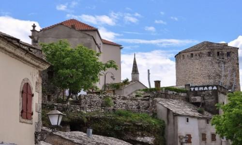 BO�NIA i HARCEGOWINA / Hercegowina / Mostar / Mostar, widok na miasto