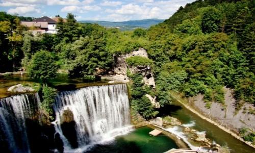 Zdjecie BOśNIA i HARCEGOWINA / centralna Bośnia / Jajce / Jajce-wodospad na rzece Pliva